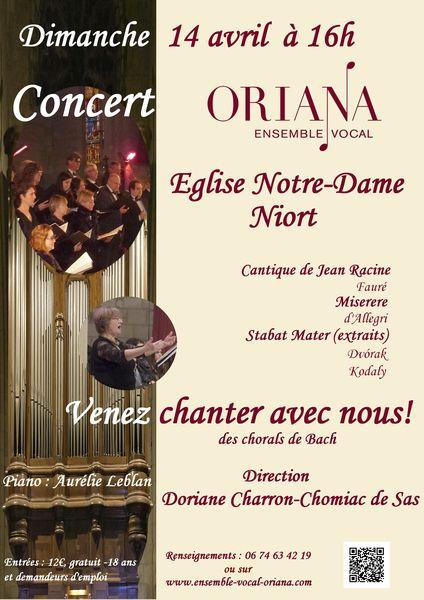 Concert participatif avec l'ensemble vocal Oriana