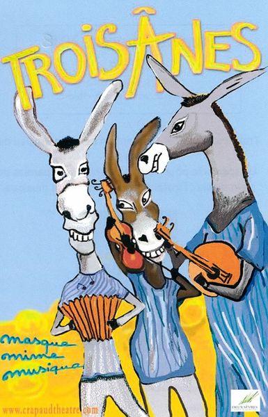 Théâtre : Trois ânes de la cie Crapaud