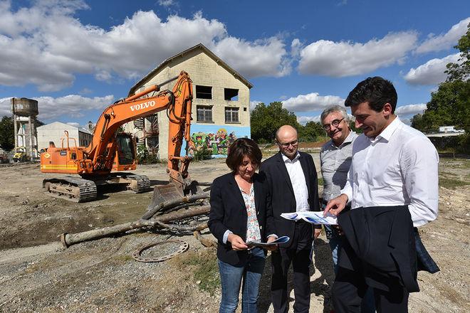 Lors du point presse organisé vendredi 7 septembre 2018 pour le lancement des travaux ©Bruno Derbord