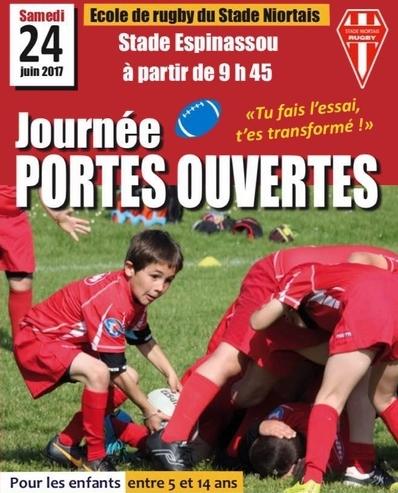 Journée portes ouvertes à l'école de rugby du Stade Niortais
