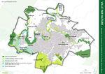 plan de la trame verte et bleue à Niort