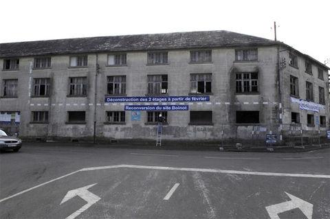 Déconstruction de bâtiments aux anciennes usines Boinot