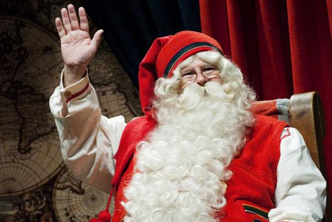 Le père Noël dans le centre-ville