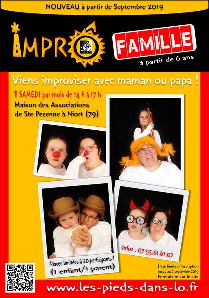 ImprÔ Famille : initiation à l'improvisation pour les ENFANTS (6 à 10 ans) et les PARENTS