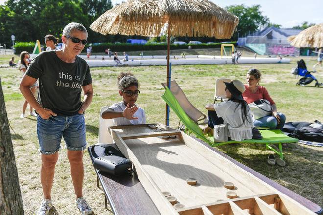 Niort Plage : Jeux en bois