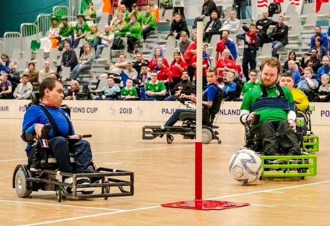 Rencontre avec les joueurs de l'équipe de France de foot fauteuil