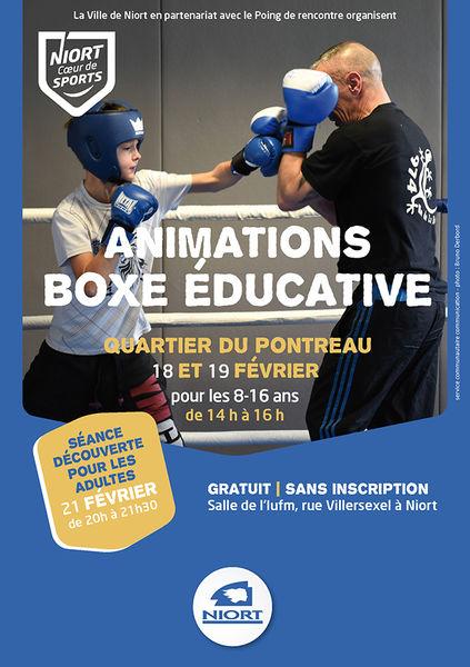Boxe éducative au Pontreau