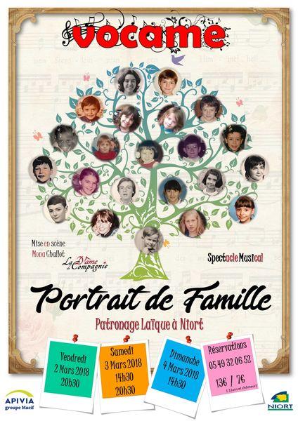 """Spectacle """"Portrait de Famille"""" par Vocame"""