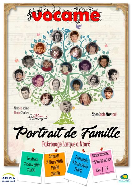 "Spectacle ""Portrait de Famille"" par Vocame"
