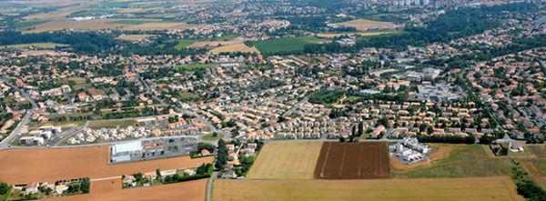vue aérienne de Niort