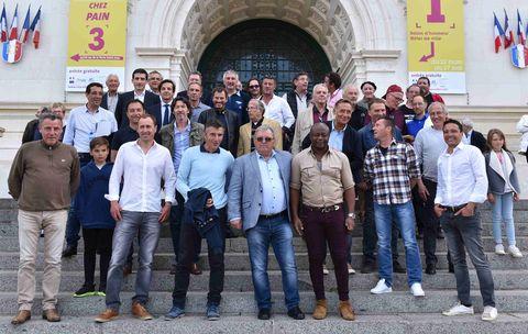 Les anciens chamois reçus à l'Hôtel de Ville de Niort