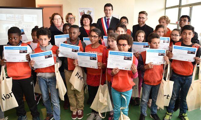 Elèves médiateurs de l'école Ernest Pérochon ©BDerbord