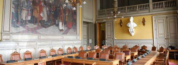 La salle du conseil municipal - photo Bruno Derbord