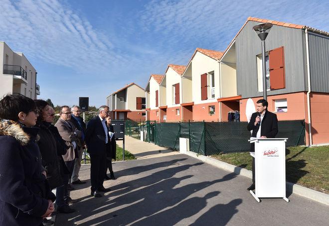 Les 29 nouveaux logements, qui s'intègrent dans la résidence de l'Oratoire, ont été officiellement inaugurés jeudi 2 novembre ©Bruno Derbord
