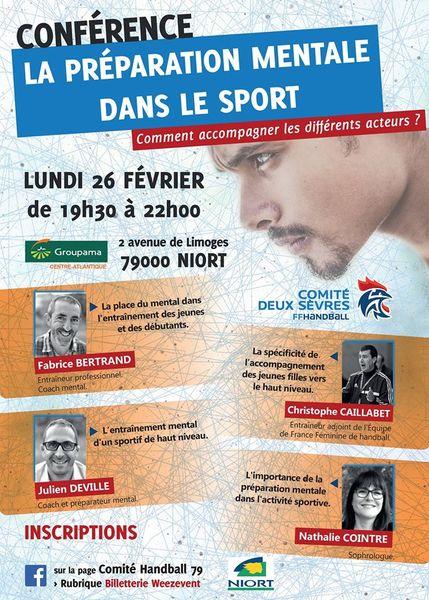 Conférence : La préparation mentale dans le sport