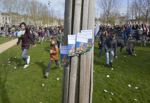 Illustration article : Chasse aux oeufs, belle participation !