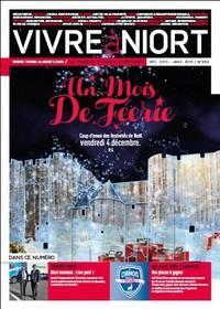 couverture Magazine vivre à niort : Numéro de décembre 2015 / janvier 2016