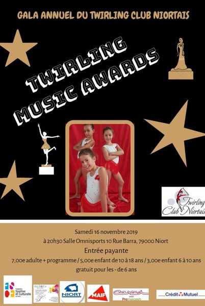 Gala annuel du Twirling Club Niortais