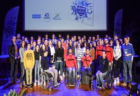 Trophées du sport à la salle omnisports Barra Avenue de Limoges en présence du Maire et des élus