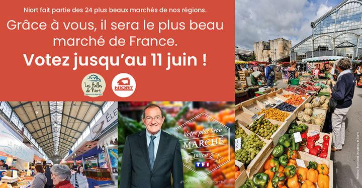 Votez pour le marché de Niort, le plus beau de France