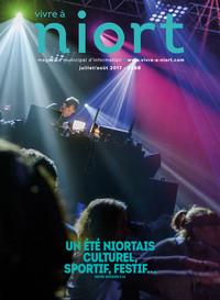 couverture Magazine vivre à niort : Numéro de juillet/août 2017