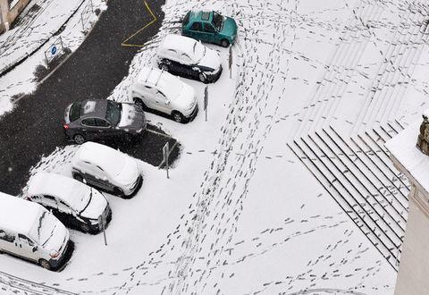 Illustration article : Niort sous la neige