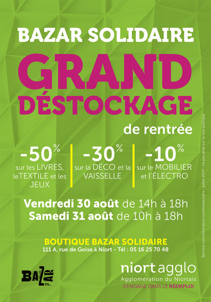 Grand déstockage à la recyclerie