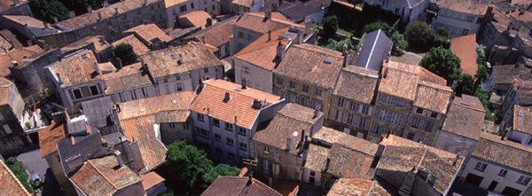 Vue aérienne du centre-ville de Niort