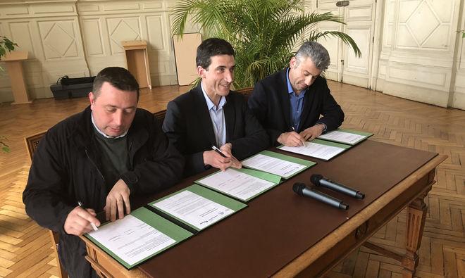 Signature charte FFB + CAPEB le 27 avril 2018