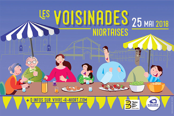 Affiche Voisinades niortaises 2018