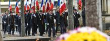 Ceremonie du souvenir au cimetiere des Sablieres en presence de M. Le Maire de Niort