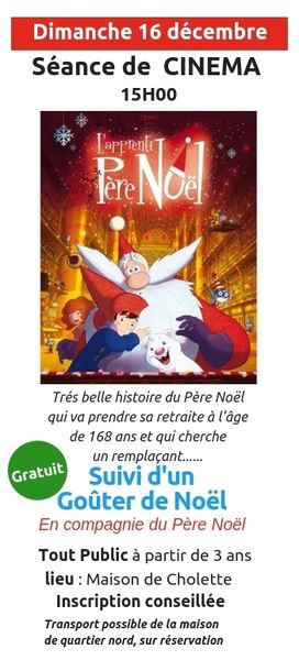 "Cinéma de Noël : ""L'apprenti Père Noël"""