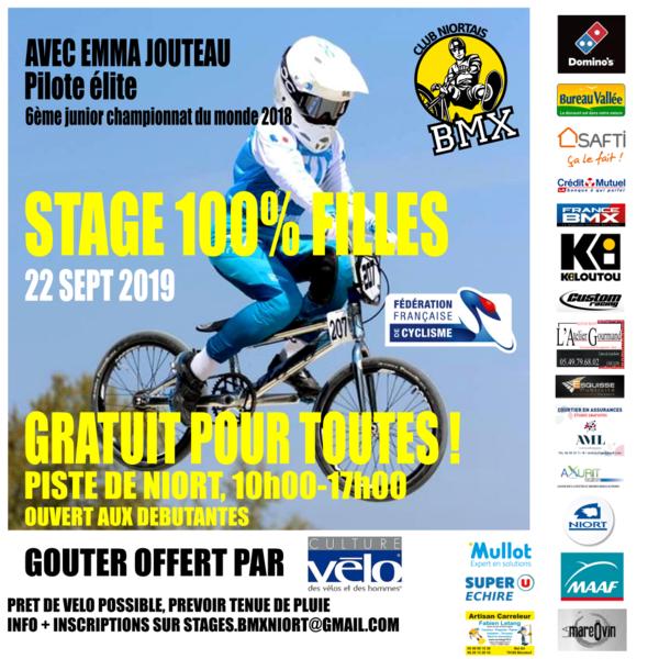 Stage 100 % filles BMX gratuit avec élite Emma Jouteau