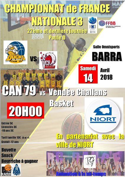 Basket : CAN 79 Basket/Vendée Challans Basket