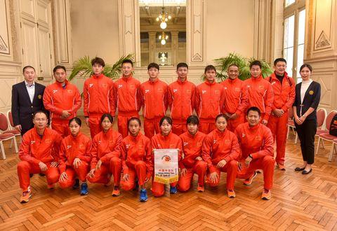 Illustration article : Des athlètes chinois à Niort