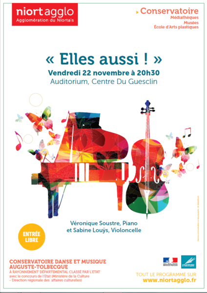 Conservatoire - Concert : « Elles aussi… ! »