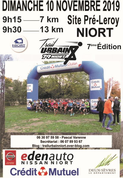 Sport : trail urbain de Niort