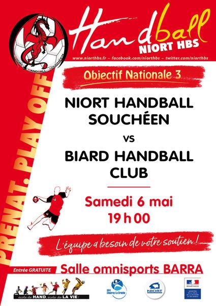Handball : Niort HBS contre Biard Handball