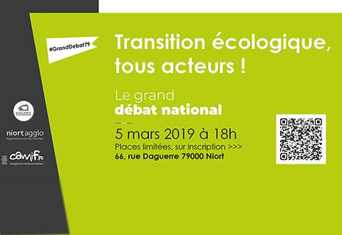"""Grand Débat National """"Transition écologique, tous acteurs !"""""""