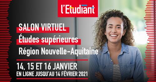 Salon virtuel des études supérieures en Nouvelle-Aquitaine