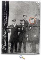 Photo d'Ernest PEROCHON à l'Ecole Normale de Parthenay (Ernest PEROCHON entouré en rouge sur la photo)