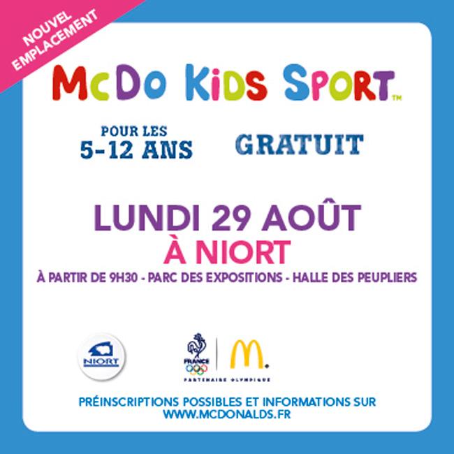 Le mcdo kids sport fait tape niort mairie de niort for Parc des expositions niort