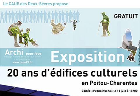 20 ans d'édifices culturels en Poitou Charentes
