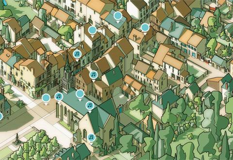 Expo : Plans cavaliers des Petites cités de caractère